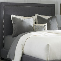 Upholstered Bed Set | Grey Linen
