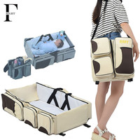 Portable Newborn baby bed Folding travel bassinet carrycot infant Crib cot bag 3 in 1 mummy maternity diaper bag change station