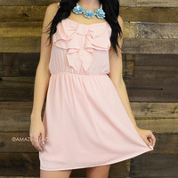 Perry Falls Bow Front Tank Dress Baby Pink