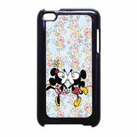 Mickey Kiss Minnie Disney Flowers iPod Touch 4th Generation Case