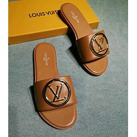 Louis Vuitton LV Flat Slide Slipper Shoes
