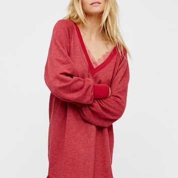 Free People Girl Talk Lounge Pullover