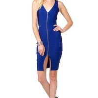 Zipped Up Bodycon Dress
