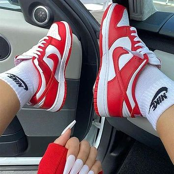 Nike Air Jordan 1 Low AJ1 White And Red Low Top Casual Shoes sneakers