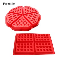 Facemile 1PCS Silicone Waffle Mold Maker Pan Microwave Baking Cookie Cake Muffin Bakeware Cooking Tools Kitchen Accessories