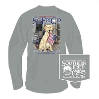 Welcome Home Long Sleeve Tee in Chicken Wire by Southern Fried Cotton