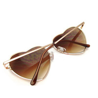 Heart-Shaped Personalized Retro Sunglasses