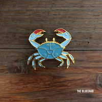 Blue Crab Enamel Pin