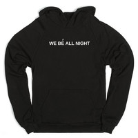 WE BE ALL NIGHT Women's Casual Black Gray Pink & White Beyonce Pullover Hoodie