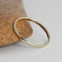 Classic Solid 14k White Gold Stacking Ring