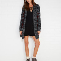 Contempo Casuals™ Marled Tribal Pattern Cardi | Wet Seal