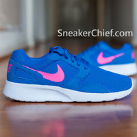 WOMEN'S NIKE KAISHI COMFORT RUNNING SHOES HYPER COBALT BLUE PINK 654845 400