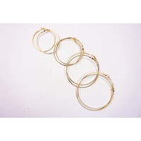 Medium Gold Hoop Earrings