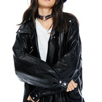 Babe Outta Hell Oversized Moto Jacket