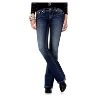 Miss Me-Chevron Cross Glitter Party Boot Cut Jeans