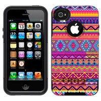 Otterbox Commuter Aztec Colourful Pattern Case for Apple iPhone 4
