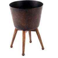 Gold Metal Planter, Small