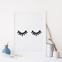 Eyelash Print,Eyelash Digital Art,Makeup,Fashion Print,Makeup,Wall Art,Fashionista,Chic Poster,Lashes,Lashes,Digital Art Print,Black Lashes