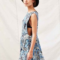 One & Only X Urban Renewal Open-Side Pinafore Dress- Blue