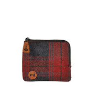 River Island MensRed Mipac plaid coin holder