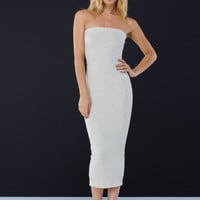 Heather Weather Strapless Midi Dress GoJane.com