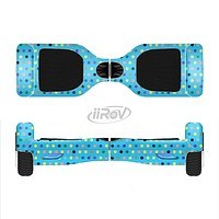 The Scattered Blue Polkadots Full-Body Skin Set for the Smart Drifting SuperCharged iiRov HoverBoard