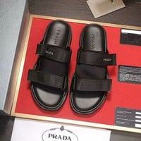 Black PRADA Slippers