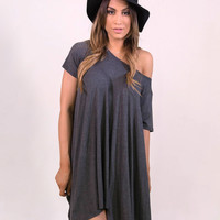 Up and Down Dress Grey