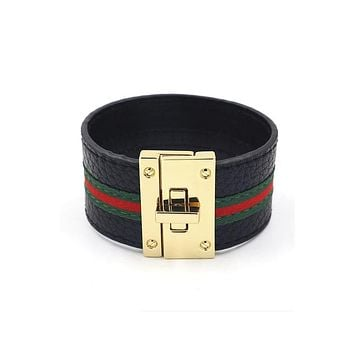 Pu Leather Stripe Bracelets B2138