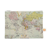 "Catherine Holcombe ""Travel"" World Map Everything Bag"