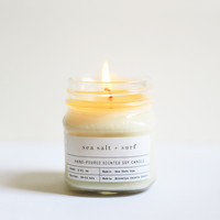 Sea Salt + Surf Mason Jar Candle