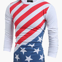 U.S. Flag Print Sweater