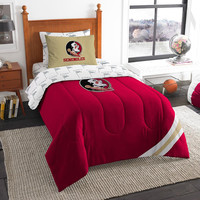 Florida State Seminoles NCAA Bed in a Bag (Contrast Series)(Twin)