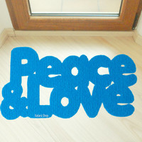 Cool design doormat: Peace & Love