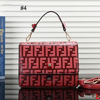 FENDI 2018 new classic F letter embossed chain bag shoulder bag Messenger bag #4