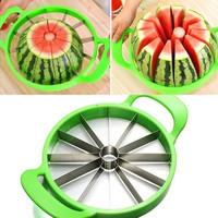 Fruit Watermelon Cantaloupe Melon Slicer Cutter Stainless Steel Peeler Kitchen Accessories(Random Color)