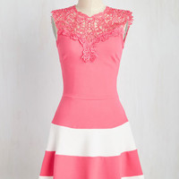 In and Love Itself Dress in Flamingo