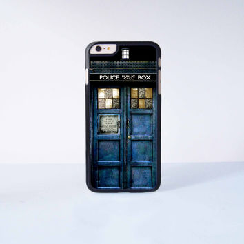 Doctor Who Police Box Plastic Case Cover for Apple iPhone 6 Plus 4 4s 5 5s 5c 6
