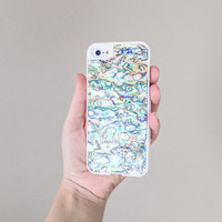 iPhone 5 Case, iPhone 5s Case, Real Shell iPhone Case, Pearlescent iPhone Case, Iridescent iPhone Case, Seashell iPhone Abalone Case