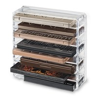 Acrylic Palette Organizer (Standard Sized Palettes) & Beauty Care Holder Containes 8+ Space Storage | byAlegory Makeup Organizer - Walmart.com