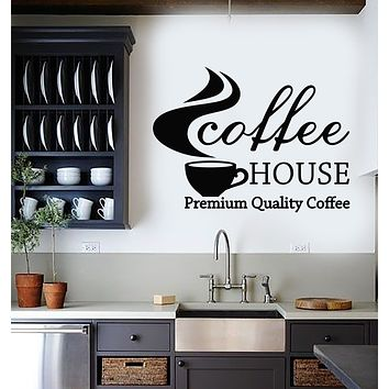 Vinyl Wall Decal Coffee House Cafe Bar Premium Quality Coffee Cup Stickers Mural (g2970)
