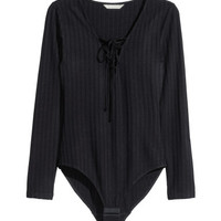 H&M Bodysuit with Lacing $24.99