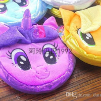 My Little Pony Plush Handbags 6 colors Children Baby Colorful Cute Horse Bags/Shopping Bags Kids Cartoon Bags/Wallets D079