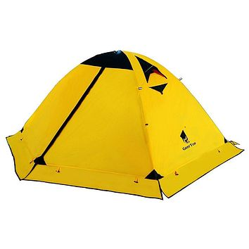 GEERTOP Backpacking Tent for 2 Person 4 Season Camping Tent Double Layer Waterproof for Outdoor Hunting, Hiking, Climbing, Travel - Easy Set Up Yellow
