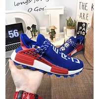 Adidas Pharrell  HU NMD New fashion letter star shoes men Blue