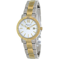 Kenneth Cole Women's KC4879 Two-Tone Stainless-Steel Quartz Watch with Silver Dial