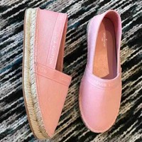 Louis Vuitton LV New fashion canvas shoes single shoes Pink