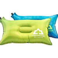 HIGH-ROCK Portable PVC-Coated Air Inflatable Pillow Neck Support for Outdoor Camping