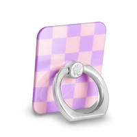 Checkered Lavender Nude Grip Ring