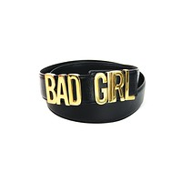 "Moschino ""Bad Girl"" Leather Belt"